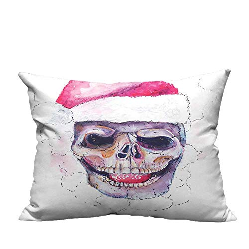 (YouXianHome Throw Pillow Cover for Sofa Santa Claus Christmas Scary New Year Icon Yule Annual Nativity Fast Design Red Textile Crafts (Double-Sided Printing) 20x35.5 inch)