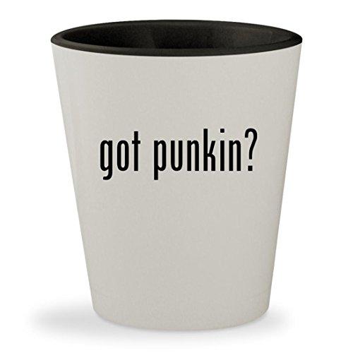 got punkin? - White Outer & Black Inner Ceramic 1.5oz Shot Glass