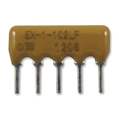 Electronics-Salon 200PCS 10K OHM Thick Film Network Array Resistor SIP-9 Bussed Type.