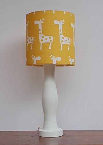 Yellow with White Giraffes Lamp Shade