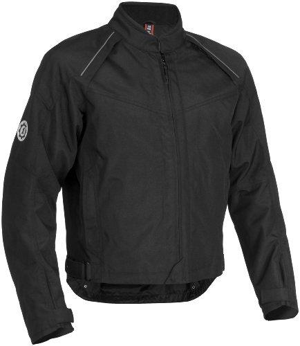 Firstgear Rush Tex Men's Textile Motorcycle Jacket (Black, XXX-Large)