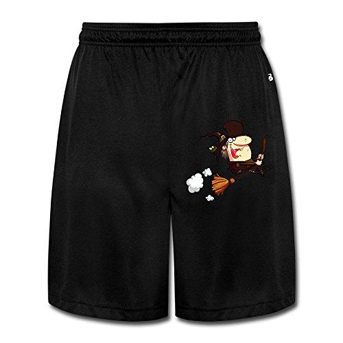 UWS DESIGN Mens Halloween Funny Short Pant Training Pants Black