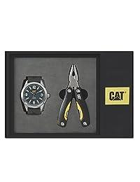 Caterpillar 05.140.21.636.SET Set de Reloj y Multiherramienta para Hombre, color Azul/Negro