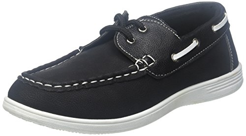 (coXist Boy's Suede PU Boat Shoe (Big Kid/Little Kid/Toddler) in Black Size: 7)