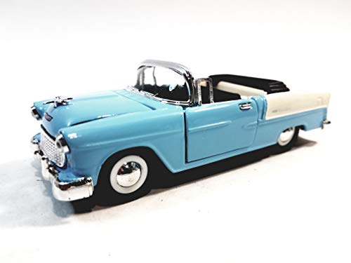 Sunnyside 1955 Powder Blue Chevy Bel Air Convertible Top Down 1/32 Scale 5