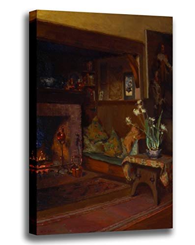 - Canvas Print Wall Art - The Inglenook in My Studio - Giclee Printed on Stretched Gallery Wrap - 12x16 inch