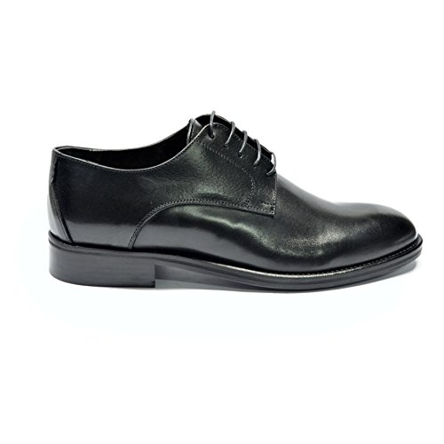 USANSON Blk - Men's Black Leather Oxford Dress Wedding shoes, with leather sole, Men US 10 by DRUDD