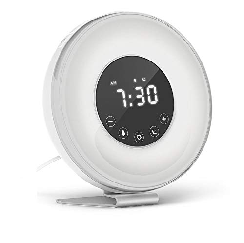Hassh Sunrise Alarm Clock - Digital LED Clock with Multiple