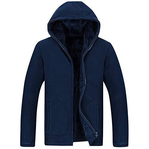 Maniche Casuale Con Maglione Invernale Cappotto Da Lunghe A Fit Scuro Blu Pullover Cardigan Lanskrlsp Uomo Cappuccio Slim q0zHEHS