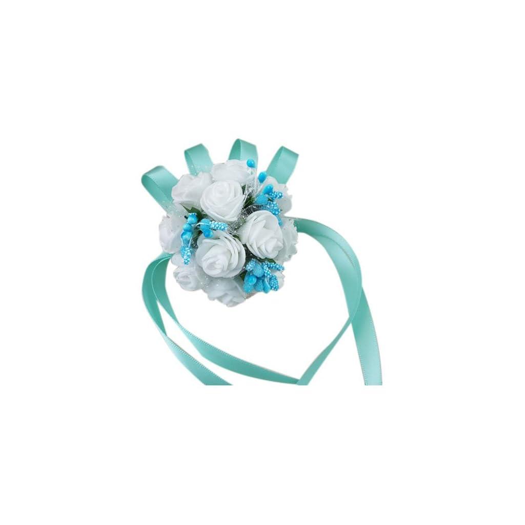 Sodialr Wrist Corsage Bracelet Bridesmaid Sisters Hand Flowers