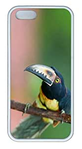 top cover aracari toucan TPU White Case for iphone 5/5S