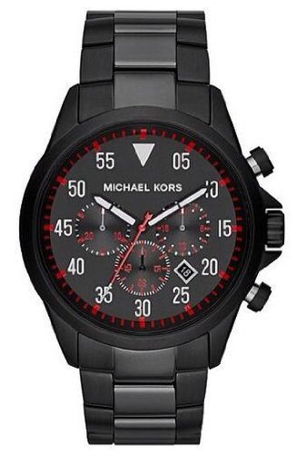 Michael Kors Nate Black Dial Black Ion-plated Mens Watch ...