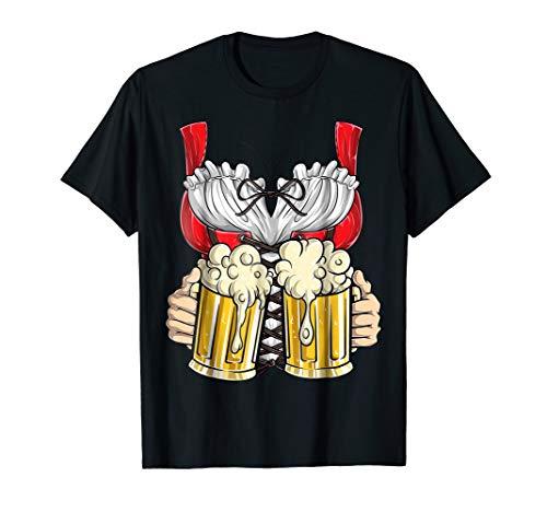 Dirndl Costume T Shirt Oktoberfest Fraulein Women Beer