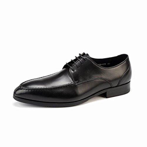 Lyzgf Mannen Jeugd Business Opportunity Play Mode Wees Veter Lederen Schoenen Zwart