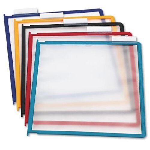 DURABLE INSTAVIEW Replacement Panels, Assorted Color Borders