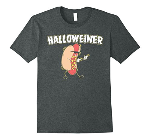 Mens Funny Halloweiner Halloween Hot Dog Tshirt Outfit Small Dark Heather (Hot Halloween Outfits)