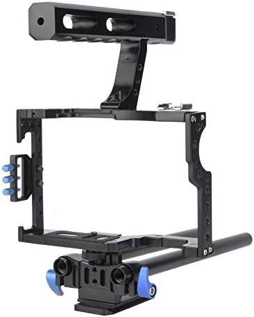 Mugast カメラスタビライザーケージ 軽量 カメラスタビライザーケージキット トップハンドル付き ケージ マットボックス フ