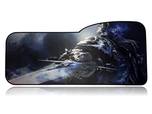World of Warcraft Extended Size Custom Professional Gaming Mouse Pad - Anti Slip Rubber Base - Stitched Edges - 28.74