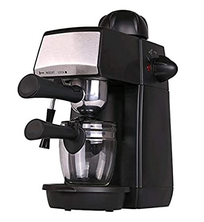 Grunkel - Cafetera espresso con presión de 5 bares, para 4 tazas (240 ml