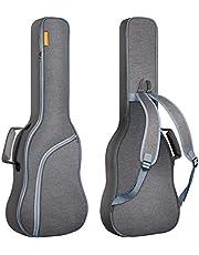 CAHAYA Elektrische gitaartas, gitaartas voor elektrische gitaar, Gig Bag gitaartas, elektrisch, gevoerd met lichtblauw, ritssluiting, scheurvast en waterdicht, grijs