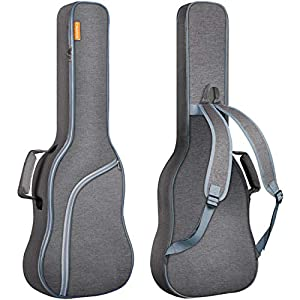 CAHAYA Gitarrentasche E-gitarre Gig Bag E-gitarrentasche Guitar Bag Electric gepolstert Grau mit Hellblau Reißverschluss…