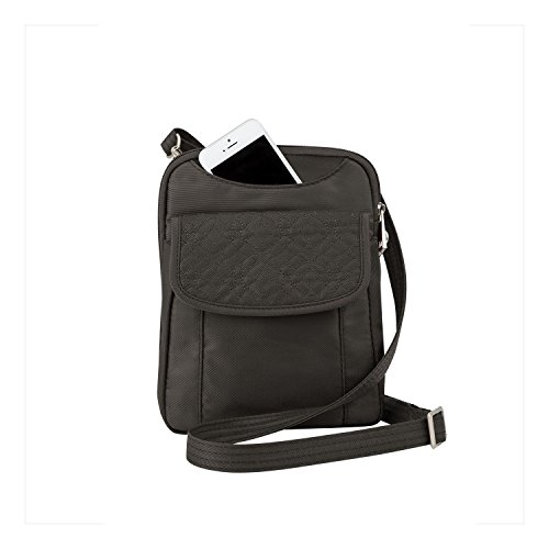 Travelon Anti-Theft Slim Pouch With Stitching, Truffle, One Size