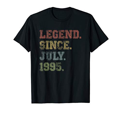 Legend Since July 1995 24th Birthday 24 Years Old Shirt Gift
