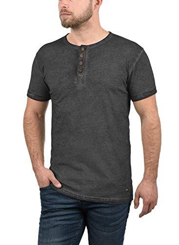 T À Courtes Chemise solid Homme shirt 9000 Pour Tihn Black Coton 100 Manches fSnqHw
