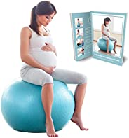 BABYGO Birthing Ball Pregnancy Maternity Labor & Yoga Ball + Our 100 Page Pregnancy Book, Exercise, Birth
