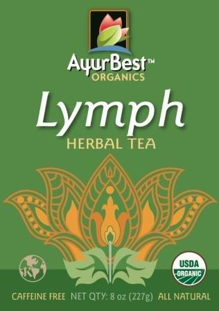 AyurBest Lymph Herbal Tea USDA Certified Organic, Net Wt. 8 oz (227g), Loose Tea