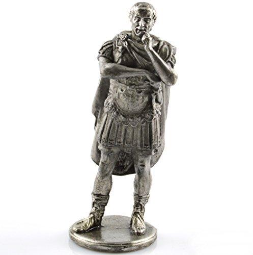 Toy soldier Gaius Julius Caesar 1st century BC metal sculpture. Collection 54mm (scale 1/32) miniature figurine. Tin toy soldiers ()