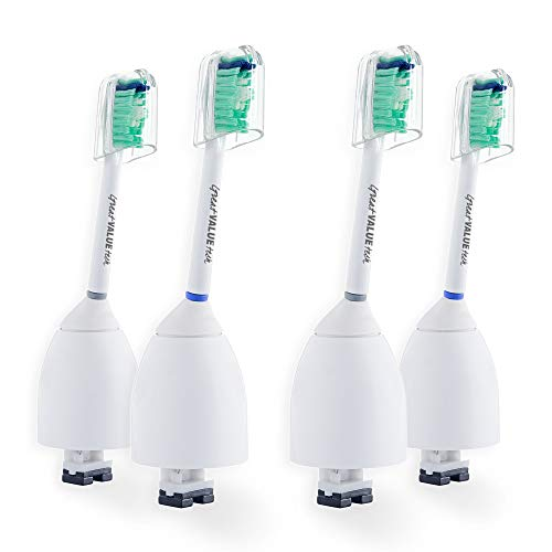 4X Great Value Tech Sonic Replacement Toothbrush Brush Heads Compatible with Philips Sonicare E-Series fits Elite, Essence, Advance, CleanCare, Xtreme, eSeries, HX7022, HX7023, HX7026