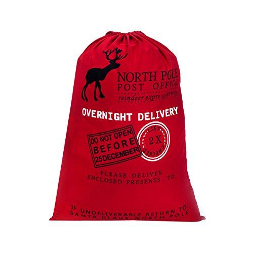 Personalized Gift Wrap - Personalized Santa Sack ,HBlife Christmas Gift Bag Cotton Santa Bag with Drawstring Size 19.7