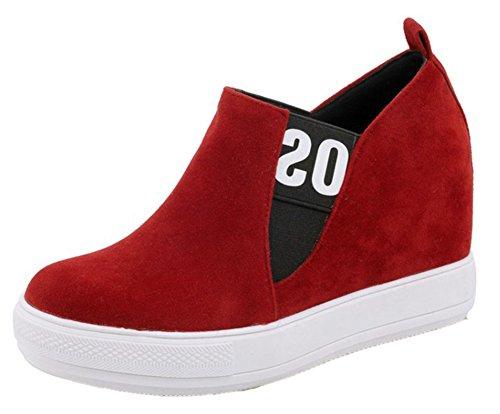 Compensé Sneakers Easemax Talon Femme Rond Bout Confortable wT6Yt6xqC