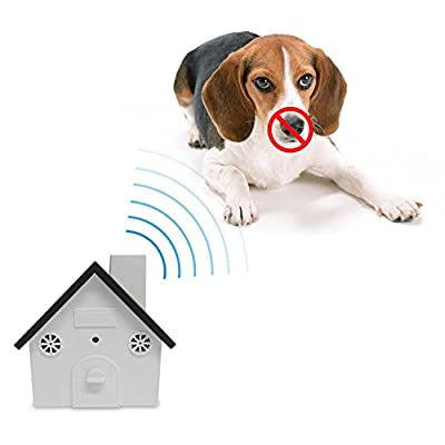 Petbob Dog Bark Controller,Anti Barking Device, Ultrasonic Waterproof Indoor Outdoor Hanging Dog Noise Interceptor Silencer, Behavior Trainer Auxiliary Tool ,Christmas Festival Gift(Black) from Petbob