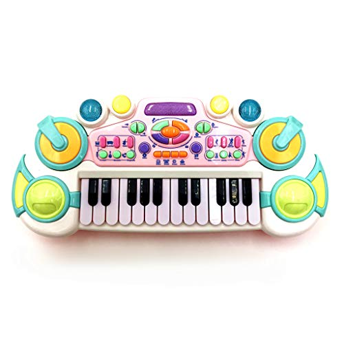 OceanEC Kids Piano Toy, Small Multifunction Electronic Kids Piano Keyboard Musical Instrument Toy (24 Keys White)