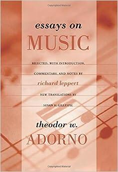 adorno essays on music leppert