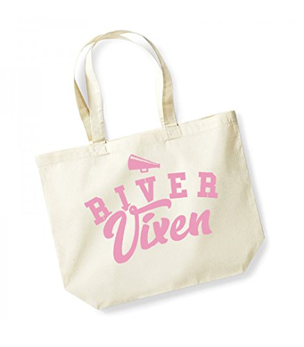 Tote Canvas Bag Cotton River Unisex Slogan Vixen Print Kelham pink Natural qwOgCXI