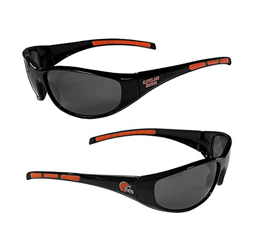 - Purchadise NFL 3-Dot Wrap Sunglasses-UVA and UVB Protection-Many Teams! (Cleveland Browns)