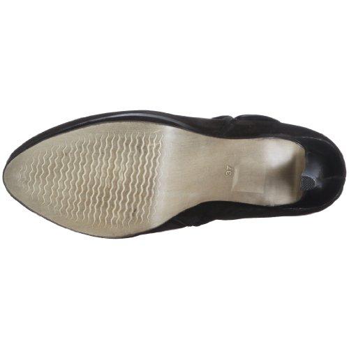 Belmondo 825101/H 825101/H - Botas de cuero nobuck para mujer Negro