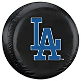 Fremont Die MLB Los Angeles Dodgers Unisex Tire Coverlos Angeles Dodgers Tire Cover Black, Standard Size