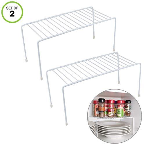 Evelots Kitchen CabinetCounter Shelf-Organizer-Double