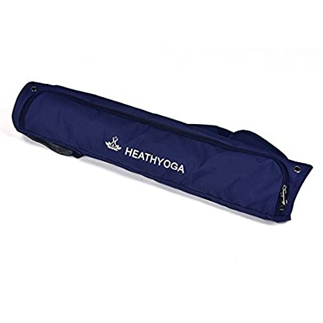 heathyoga antideslizante caucho Natural estera de Yoga, Yoga caliente Mat y Bikram Yoga Mat, cuerpo sistema de alineación, goma resistente base + ...