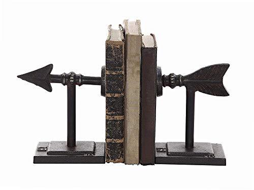 Home Decor DA4199 Set of 2 Cast Iron Arrow Bookends ()