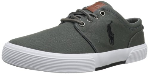 (Polo Ralph Lauren Men's Faxon Low Sneaker,Deepgrey/Polo Black,10 M US)