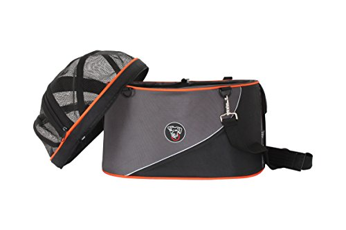 DoggyRide Cocoon Pet Carrier, Airline Carrier, car seat and Ready for use as Bicycle Basket, Large, Anthracite/Orange by DoggyRide (Image #4)