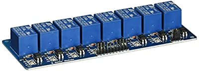 Uxcell DC 5V Power Optocoupler Shielded 8-Channel Relay Module for AVR ARM