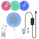 40Ft Continuous Length Long 24V RGB LED Strip Light Kit incl Music Sensor & Remote Controller and Power Supply Multiple Colors Changing Tube Waterproof Rope Strips