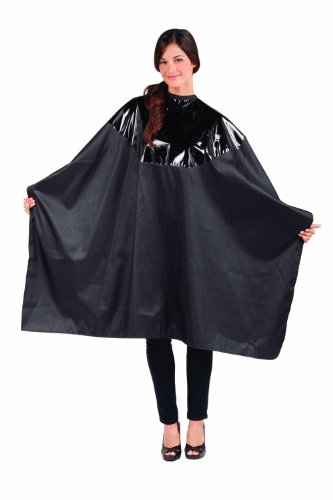 Betty Dain Signature Cosmix Coloring/Styling Cape with Chemical-proof Panel, Black