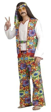 Forum Generation Hippie Hippie Dippie Costume, Rainbow, Plus